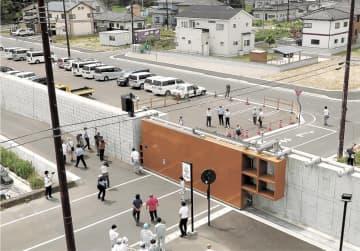 宮城県沖地震42年 陸閘閉鎖システム開始 感染症踏まえ防災訓練 | 防災 ...