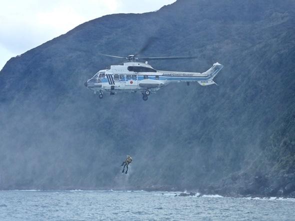 ヘリ 救助 転落